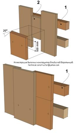 Стыковка досок вертикальной наружной обшивки