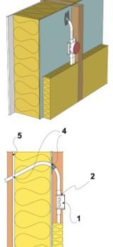 Монтаж электрокоммуникаций в наружных каркасных стенах