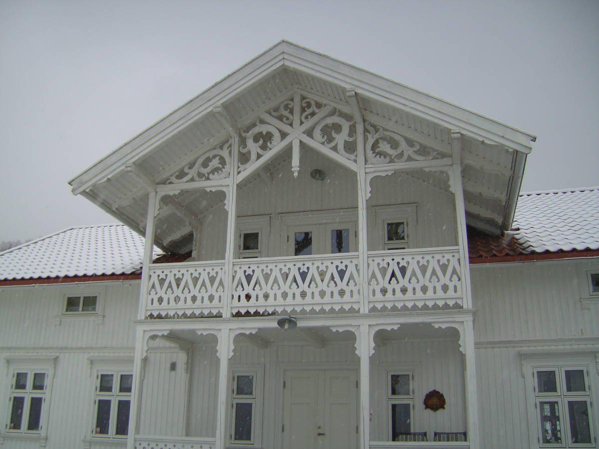 Фасады скандинавских домов. Типичный пример наружной обшивки каркасного дома.